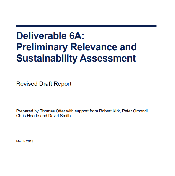 Relevance and Sustainability Assessment