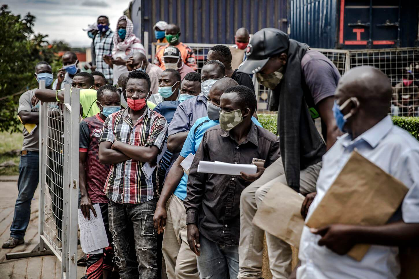 At a busy East African border, testing truckers created perfect conditions for coronavirus to spread